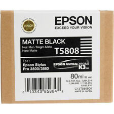 Epson Stylus Pro T5808 MATTE BLACK Ink Cartridge for 3800/3880 Exp 7/12 SEALED