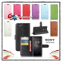 Etui Coque housse XCOLORS Cuir PU Leather Wallet case cover Sony Xperia XA2