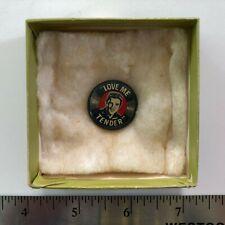"""Elvis Presley LOVE ME TENDER (1956) 7/8"""" Vintage Pin-Back Button RARE"""