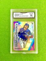 BO BICHETTE ROOKIE CARD PRIZM RC GMA 10 GEM MINT BLUE JAYS 2020 Bowman CHROME rc