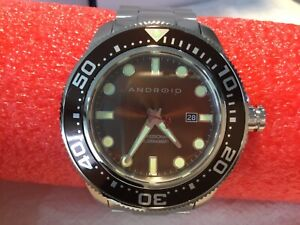 Android AD765 Divemaster 200 Watch Brown Dial 45mm