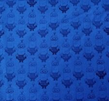 """18"""" Minion Movie Despicable Me Quilting Treasures Tonal Navy Blue Minions"""