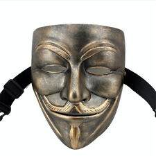 Resin V For Vendetta Movie Costume Cosplay Mask Guy Fawkes Anonymous Halloween
