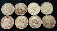 GERMAN STATES 2 MARK COINS PRUSSIA, BADEN, BAYERN,WURTTEMBURG & SAXONY-ALBERTINE
