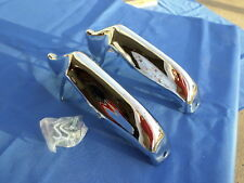NEW 1963 Chevy Chevrolet Impala Accessory Rear Bumper Guards Pair & Hardware