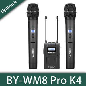 BOYA BY-WM8 Pro K4 Handheld Wireless Microphone Kit System For iPhone DSLR Video