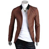 Men's Slim Fit Two Button Luxury Business Casual Blazer Jacket Suit Coat 4 Color