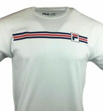 FILA Men's T Shirt  Logo Graphic Tee Athletic Sports Apparel NEW Small - Medium-