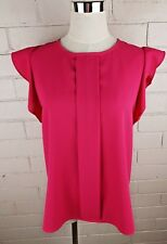 ZARA Woman Pink Blouse Shirt Top Size USA M EUR M Work Career Corporate