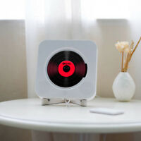 Wall Mounted CD Player FM Radio Bluetooth MP3 Music Player Remote Control