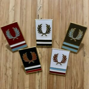 """Fred Perry x Raf Simons 2018 1""""  Gold Enamel Pin - Assorted Colors"""