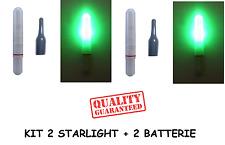kit 2 starlight led elettronico galleggiante pesca luce galleggianti batteria