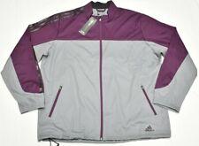 Adidas Golf Competition Wind Jacket Men XL Climastorm Full-Zip Grey Purple P342