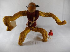 Riesiger 60s Holzaffe Affe Körper aus Sisalfaser Holzkopf XXL 32cm Bojesen Ära