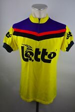 Vintage LOTO Jersey équipe Maglia Maillot Bike Cycle Maillot Acrylic laine t L