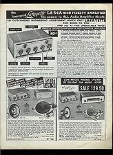 Lafayette Radio Wilcox Gay Electronics & Speakers Flyer Rare Orig Data Brochure