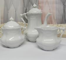 Vintage Childs Tea Set Teapot Lidded Sugar Creamer Fine Porcelain China REPAIRED