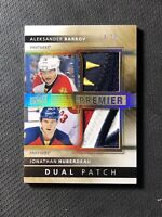 2014-15 UPPER DECK PREMIER BARKOV/HUBERDEAU DUAL PATCH GOLD SPECTRUM #ed 14/15