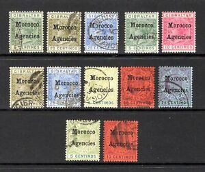 MOROCCO AGENCIES QV 1898 TO EDV11 1903 GOOD TO FINE USED SEE DESCRIPTION CAT £52