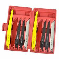 "10pc Reciprocating Saw Blade Set Blades Wood Metal Cutting 1/2"" Shank TE747"