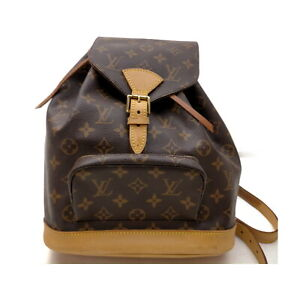 Louis Vuitton LV BackPack Bag Montsouris MM M51136 Browns Monogram 402900
