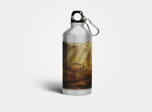 600ml Aluminium Water Bottle with Common Carp, Mirror Carp and Pike Designs