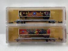 N Micro-Trains MTL 06400110 Ringling Circus 57' Flat Car & Trailer 2-Pack SEALED