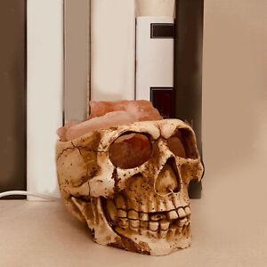 Unique 3D Skull Lamp Bedside Himalayan Slat Nightlight Lights Ornament Craft