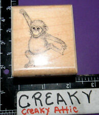 MONKEY BABY ANNIE SMALL RUBBER STAMP MOSTLY ANIMALS RETIRED 482-S5