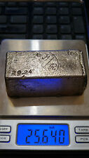 SILVER BAR 26.24 Oz. .999 FINE G/R VINTAGE OLD POURED, ACTUAL WEIGHT 25.64 Oz.