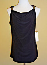 NWT Kenneth Cole Reaction Cute Black Halter Top Cowl Neckline in size M