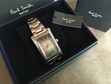 PAUL SMITH BRUSHED STAINLESS STEEL QUARTZ MOVEMENT BULLION WATCH BNIB...SALE!!!