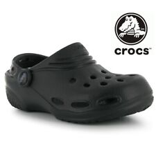 Crocs Genuine New Kids Girls Boys Classic Black Shoes Sandals Infant Sizes 1-2