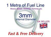 3mm I'd CLEAR PETROL OIL FUEL PIPE HOSE LINE. -  1 Metre LENGTH