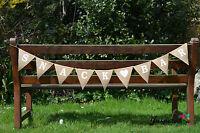 Snack Bar Hessian Fabric Bunting Banner Rustic  Burlap Shabby Chic Wedding Party