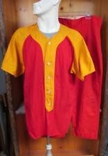 Vintage 1950s MacGregor Red & Gold Baseball Uniform Shirt L 42 red Wilson Pants