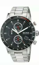 Hugo Boss HB 1513509 Rafale Chronograph Black Dial Silver Tone Men's Wrist Watch