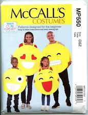 "Emojis Costume Pattern for the Whole Family (Chests 23""-44"") - Brand New"