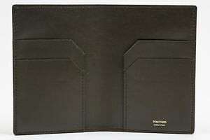 Tom Ford Dark Green Smooth NWT 100% Calf Leather Bifold Wallet Card Holder $400