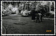 couples w old classic car TATRAPLAN, Tatra 600, Vintage Photograph, 1950'