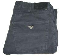 Mens AJ ARMANI J45 Black Slim Regular Fit Stretch Denim Jeans W32 L34