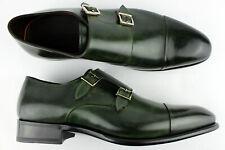 Herren Businessschuhe Echtleder Halbschuhe Casual grün leicht Oxford Gr.40-46