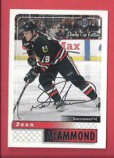1999-00 Upper Deck MVP Stanley Cup Edition Silver Script 47 DEAN MCAMMOND