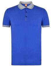 BOSS ORANGE Pejo men's blue Polo Shirt size M