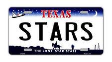 "Metal Vanity License Plate Tag Cover - Dallas Stars - Hockey Team - 12"" x 6"""