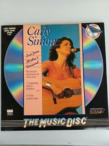 Carly Simon Live From Martha's Vineyard Laserdisc  Condition* Like New
