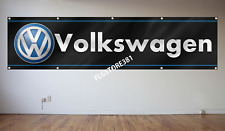 Volkswagen Banner Flag 2x8ft Wall Decor Garage Large Flag VW Motorsport
