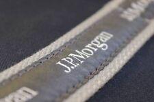 """NEW J.P. Morgan JP Chase JPMC 17"""" Original Duffel Banker Bag -Navy*Gray Ribbons"""