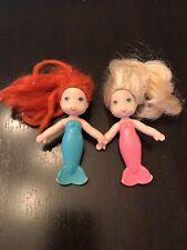 Vintage Kenner C.P.G. 1979 Sea Wees Sandy Pink Aqua Mermaid Doll, Red Blond Hair