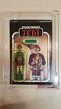 Star Wars Lando Calrissian Skiff Guard ROJ 65 backA Kenner 1983 AFA80 NM vintage